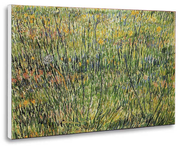 Canvas reproduction after the Pasture in Bloom by Vincent van Gogh ...