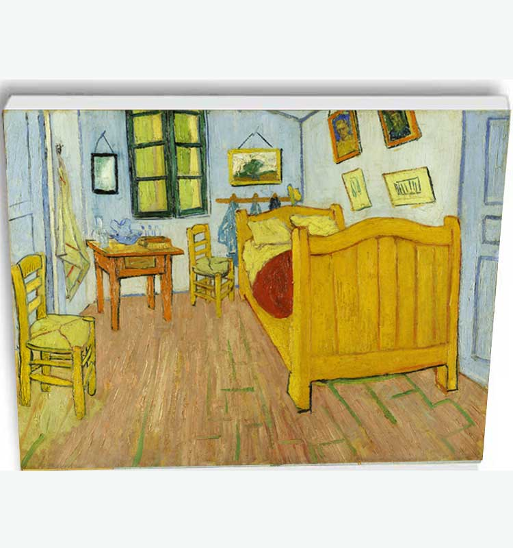 Canvas reproduction after the Bedroom in Arles by Vincent van Gogh ...